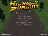 Highway Pursuit - Title Screen
